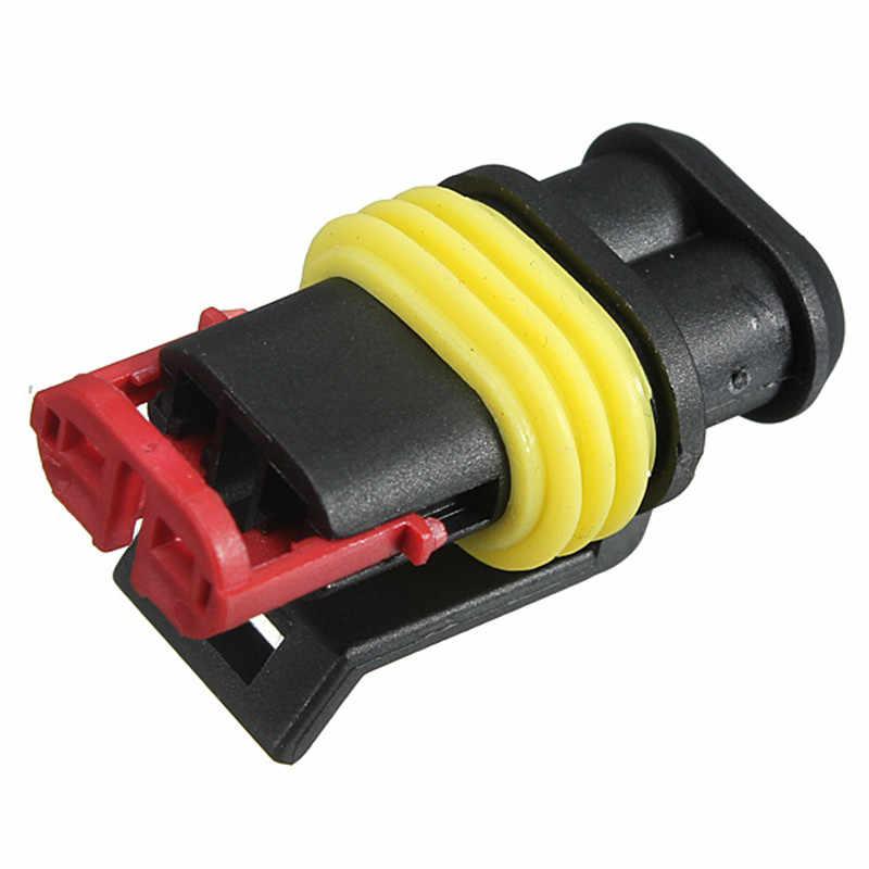 KROAK 1 комплект части автомобиля 1/2/3/4/5/6 Pin способ герметичный Водонепроницаемый Электрический провод авто разъем Набор