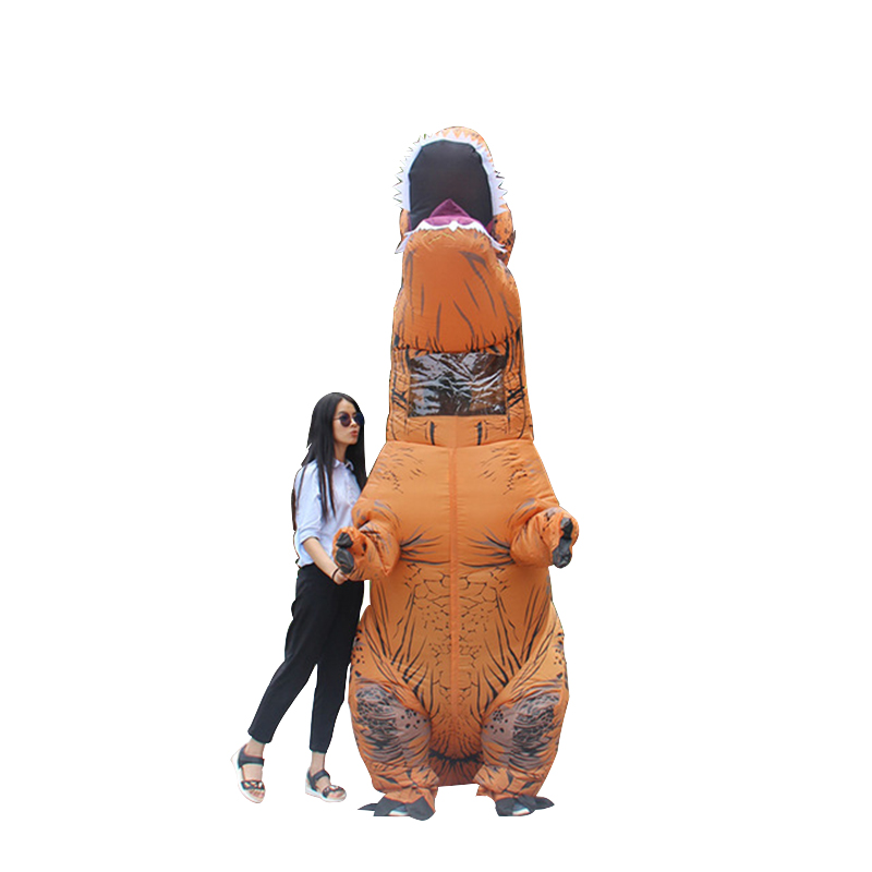 New Inflatable Tyrannosaurus rex Costume Halloween Christmas Party Funny Costume For Adult Party Activities Props Costumes