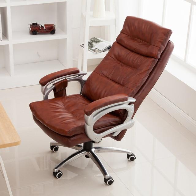 High Quality PU Ergonomic Executive Office Chair Swivel Chair Lying Adjustable Lifting Lengthen Backseat bureaustoel ergonomisch