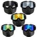 Motorcycle Riding Protective Helmet Detachable Face Mask Shield Goggles Colorful