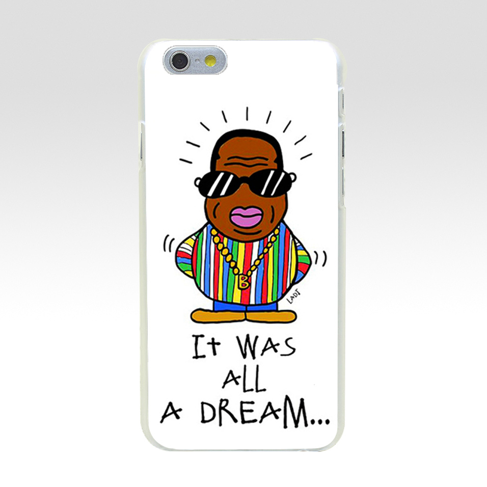 Minason Phone Case For iPhone 8 Notorious Big It Was All A Dream Hard PC Cover Case For iPhone 6 s 5 5C 5S SE 6s 7 Plus X Cases