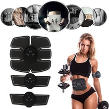 Vibration Fitness Massager Abdomen Trainer Battery Electronic Muscle Exerciser EMS Wireless Stimulator