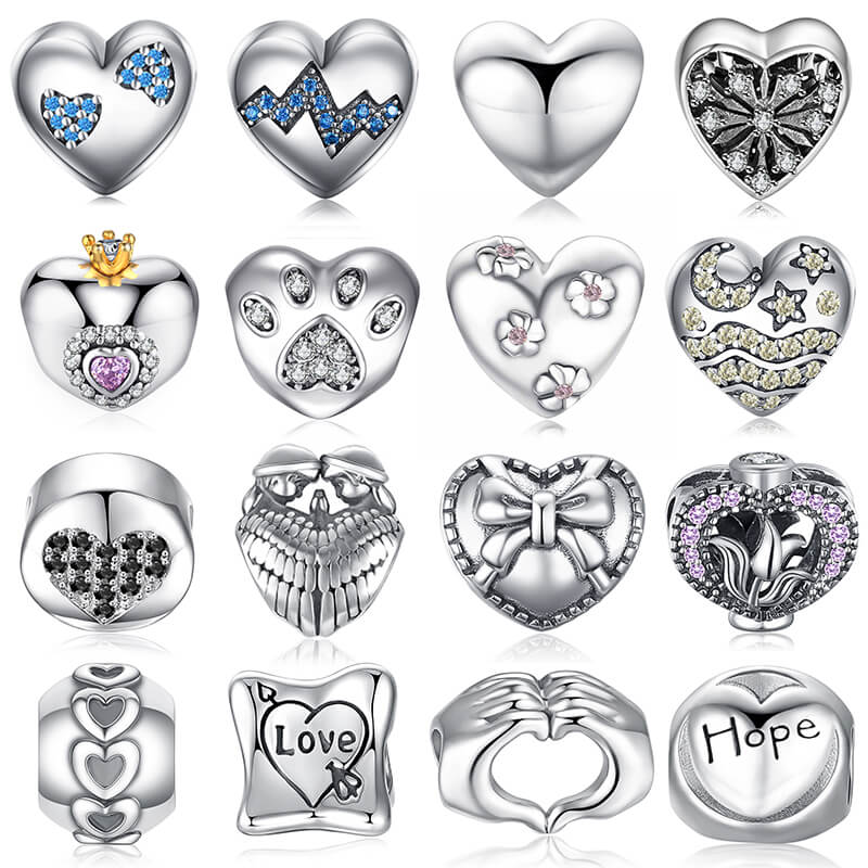 Jewelrypalace  Beads Charms Fit Bracelets Women DIY 925 Sterling Silver More heart Beads Jewelry Fashion Girls love GiftsJewelrypalace  Beads Charms Fit Bracelets Women DIY 925 Sterling Silver More heart Beads Jewelry Fashion Girls love Gifts