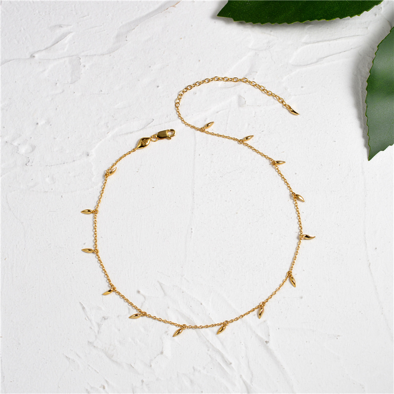Euro American S925 Silver Net Red Necklace Women Simple Fashion Overlay Mixed Clavicle Chain Wheat Head