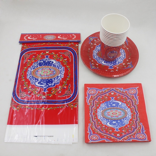 Cool Eid Party Eid Al-Fitr Decorations - Mubarak-Ramadan-Set-Decoration-With-Cups-plates-Table-cover-Napkins-For-Eid-al-Fitr-Decoration  Graphic_414598 .jpg