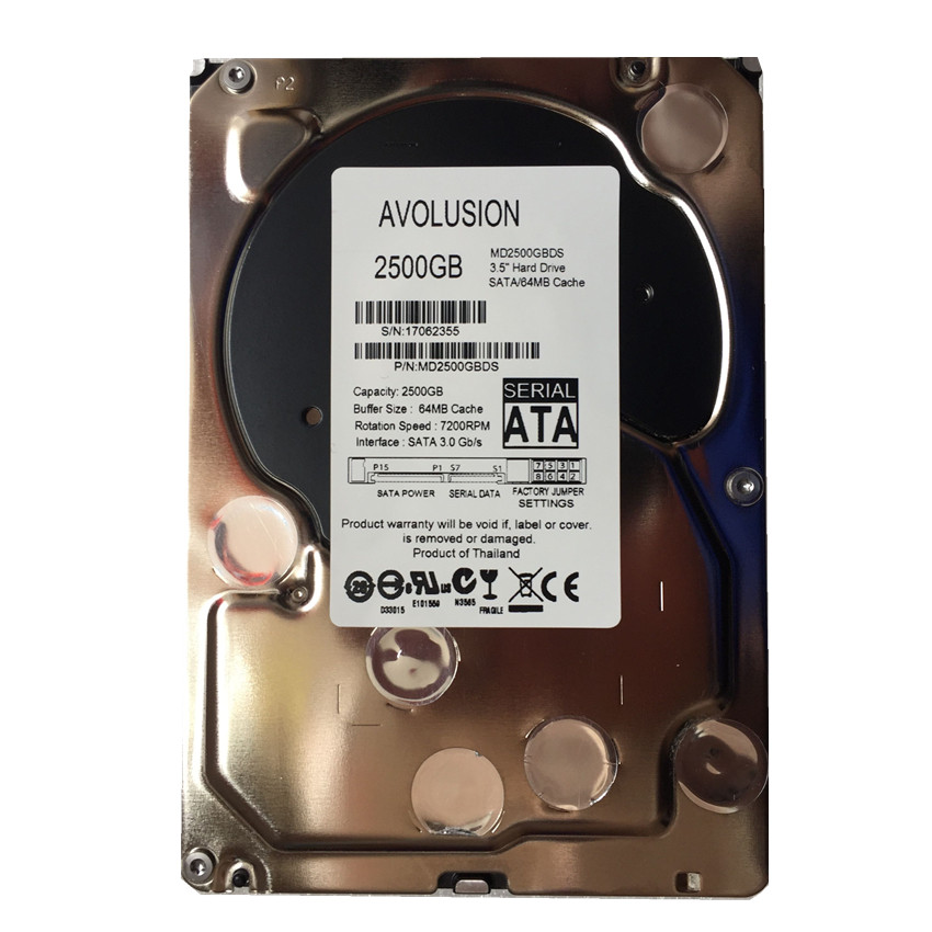 все цены на 2500GB SATA 3.5inch 7200RPM 64MB Cache Enterprise Grade Security CCTV Hard Drive Warranty for 1-year онлайн