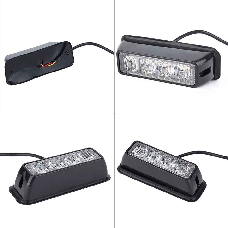 4 led car truck emergency beacon light bar hazard strobe. Black Bedroom Furniture Sets. Home Design Ideas