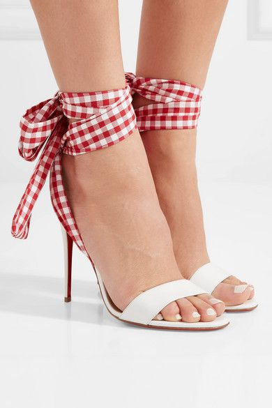 купить Sestito 2018 Brand Designer Shoes Woman Elegant Gingham Lace-up High Heels Ankle Strap Sandals Ladies Peep Toe Cover Heels Shoes по цене 5029.94 рублей