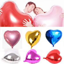 Party Decoration Balloons 32Popular Metallic Latex Balloon Heart Shaped Celebration Wedding Birthday Festival D20 holiday party heart shaped grid decoration for balloon translucent white