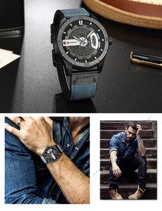 Image 4 - Relogio Masculino CURREN Watch Men Waterproof Calendar Sport Military Male Clock Top Brand Luxury 3D Dial Man Wristwatch 8301