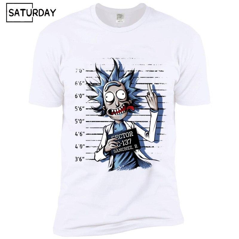 Ready Stock Men's Bad Rick Funny Anime   T  -  shirt   Unisex Casual Anime Morty   T     shirt   Women Hip Hop Swag Tshirt
