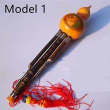 Cucurbit Flute Hulusi Natural Gourd Flauta Hulusi C/ bB Key Detachable Gourd Flute Musical Instruments Professional Flute hulusi