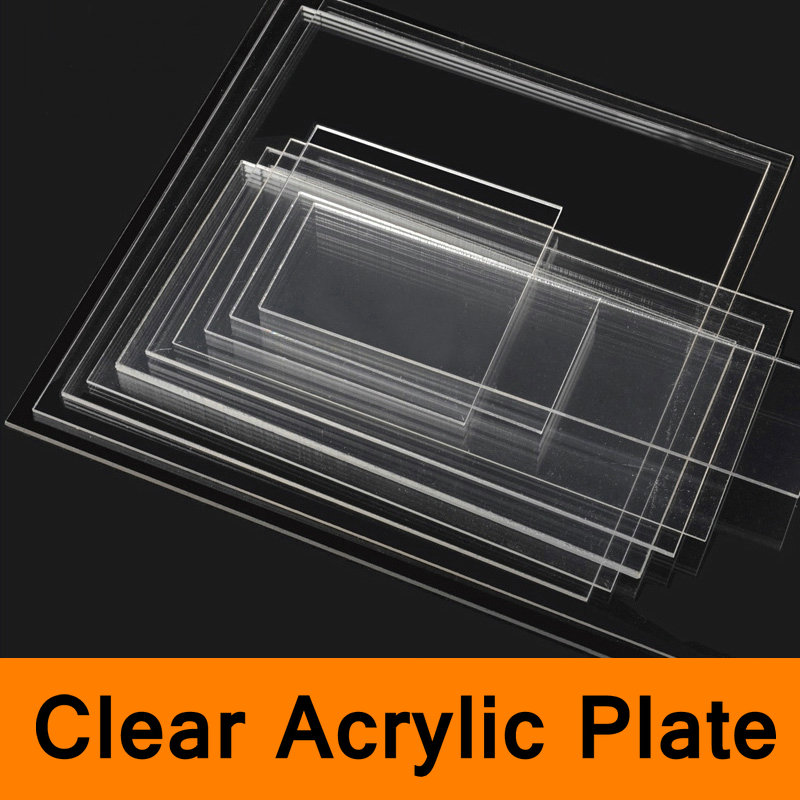 Clear Acrylic Perspex Sheet PU Plastic Panel Transparent Sawn Cut Panels Shatter Resistant Clay Pottery Sculpture Tool Workbench 6pcs fashion stick aluminium pole clay pottery tools 11 5cm length for art pottery sculpture