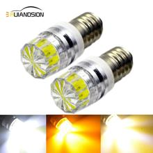 E10 Screw LED Light COB 2W 3V 6V 12V DC Motorcycle Auto Car LED Interior Light Flashlight Torch Headlamp White Warm White Yellow