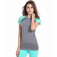 Women Sport Dry Fast Shirt Fitness Running Athletic Apparel Tee Workout T Shirt