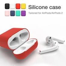 Silicone Bluetooth Wireless Earphone Case For AirPods Case Protective Cover Skin Accessories for Apple Airpods 2 Charging Box