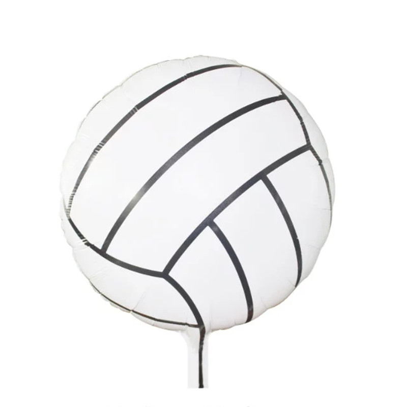 18inch round volleyball Foil Balloons Inflatable classic toys Helium Balloon hap