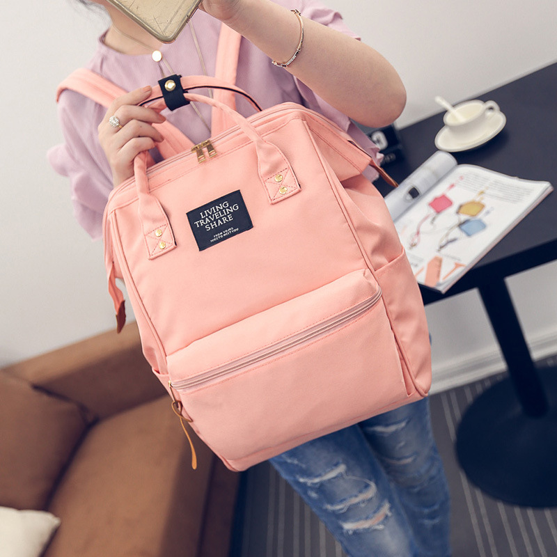 A Ring Backpack Canvas School Printing Ring Bag Backpack Women's Vintage Brand Male Women Backpack Youth Bag