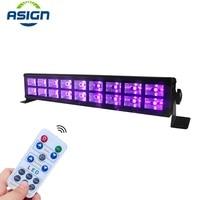 LED Disco UV Violet Black Lights DMX512 DJ Party Stage Lamp For Christmas Bar Lamp Laser Stage Wall Washer Spot Light Backlight