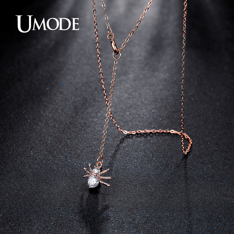UMODE Brand New Spider Shape Rose Gold Color Top CZ Pendants - Fashion Jewelry - Photo 2