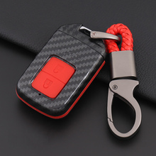Smart Remote Car Key Case Cover Silicone Carbon Fiber For Honda Vezel city civic Jazz BRV BR-V HRV Key Accessories Waterproof 2 pcs diy three style engineering plastics and aluminum welcome pedal cover case stickers for honda vezel hrv parts accessories