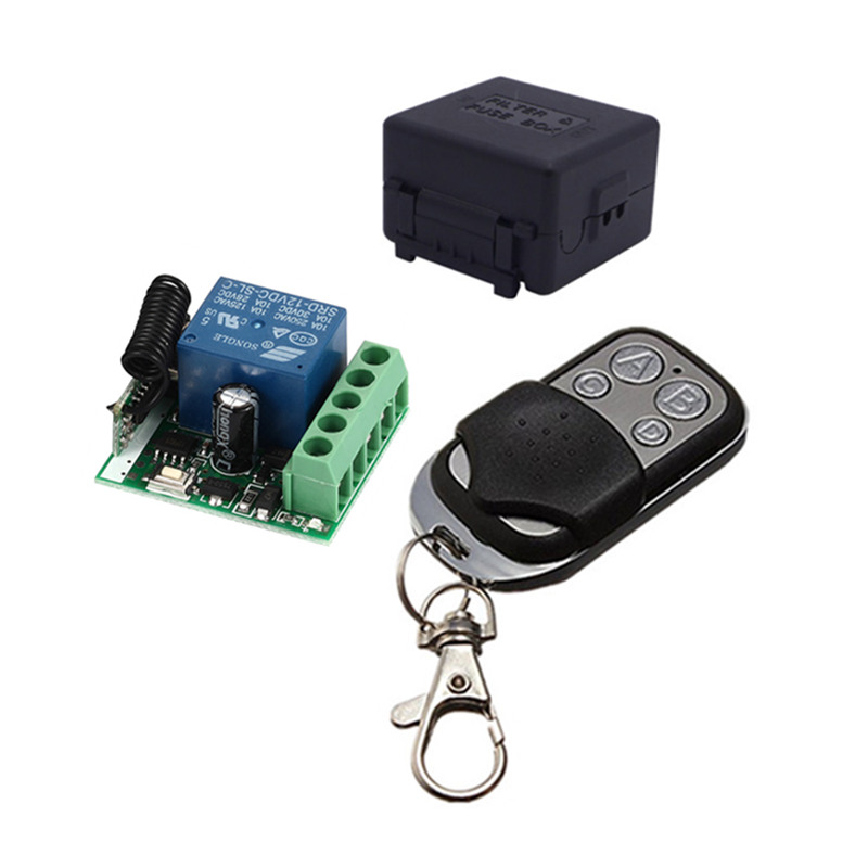 433Mhz Universal Wireless Remote Control Switch DC 12V 10A 1CH relay Receiver Module and RF Transmitter 433 Mhz Remote Controls 433 mhz univeral wireless rf remote control switch ac 85v 220v 1ch receiver module with 433mhz 4ch transmitter remote controls