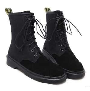42316b4658aa1 Martin Boots Flat-Tube British-Style Women High-Quality NEW