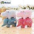 4.7 Polegada Encantador Dos Desenhos Animados Do Bebê Crianças Brinquedos de Pelúcia para o Aniversário Das Meninas Presente de Natal Animais Elefante Hipopótamo Boneca Metoo