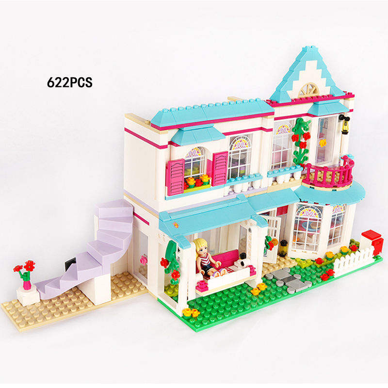 City street view My good friends girls clubs stephanie house building block parents figures Villa bricks 41314 toys for kid gift ...