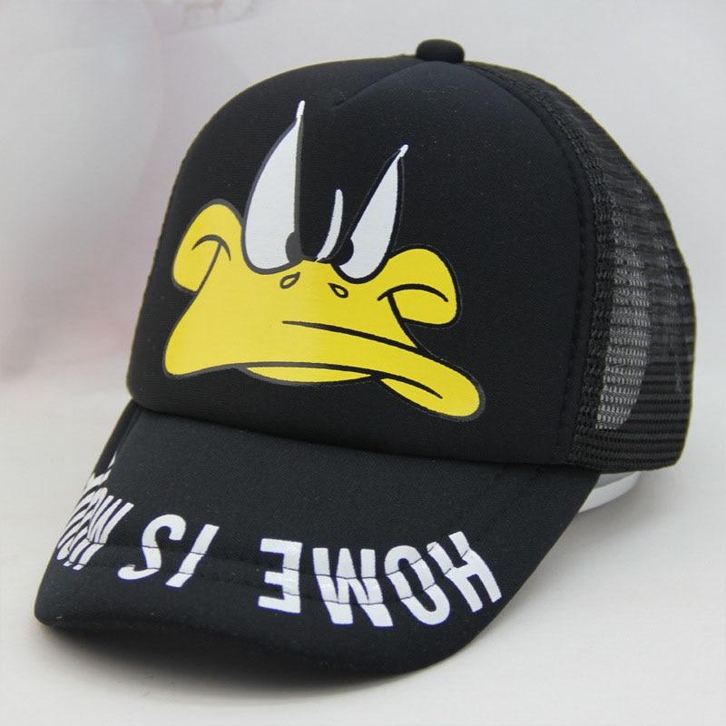 2018 NEW cute children   baseball     caps   baby girls sun visor hats boys snapback casquette gorras cartoon duck kids summer mesh   cap