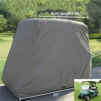 Wasserdichte 2 Passagiere Auto Detector Golfwagen Schützen Abdeckung Uv-beständig Für Zwei Passagier Auto Club Auto Khaki