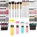 10Pcs Pro Cosmetic Makeup Brush Set Face BB Cream Foundation Blend Eyebrow Eyelash Eyeshadow Lip Powder Brushes Kit Maquillage