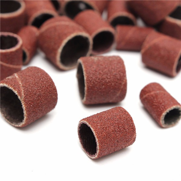 100Pcs Drum Sanding Kit 80#/120#/180# Nail Drill Bits Abrasive Tools Dremel Accessories Sandpaper Shank Rotary Tools
