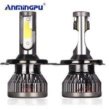 ANMINGPU 2pcs  H7 Led H4 Headlight Bulbs H3 H1 LED H11/H8/H9 9005/HB3 9006/HB4 9012 Car Light 60W 12000LM/Pair Auto Fog Light braveway h7 led h4 headlight bulbs for car h1 h11 hb3 hb4 9005 9006 light 1860 chips 12000lm 6500k 60w 12v auto fog lamp led kit