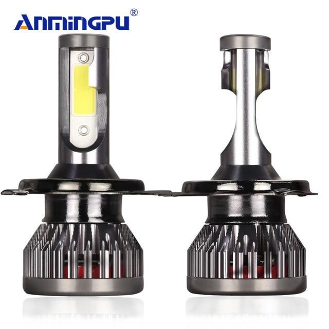 ANMINGPU 2pcs  H7 Led H4 Headlight Bulbs H3 H1 LED H11/H8/H9 9005/HB3 9006/HB4 9012 Car Light 60W 12000LM/Pair Auto Fog Light