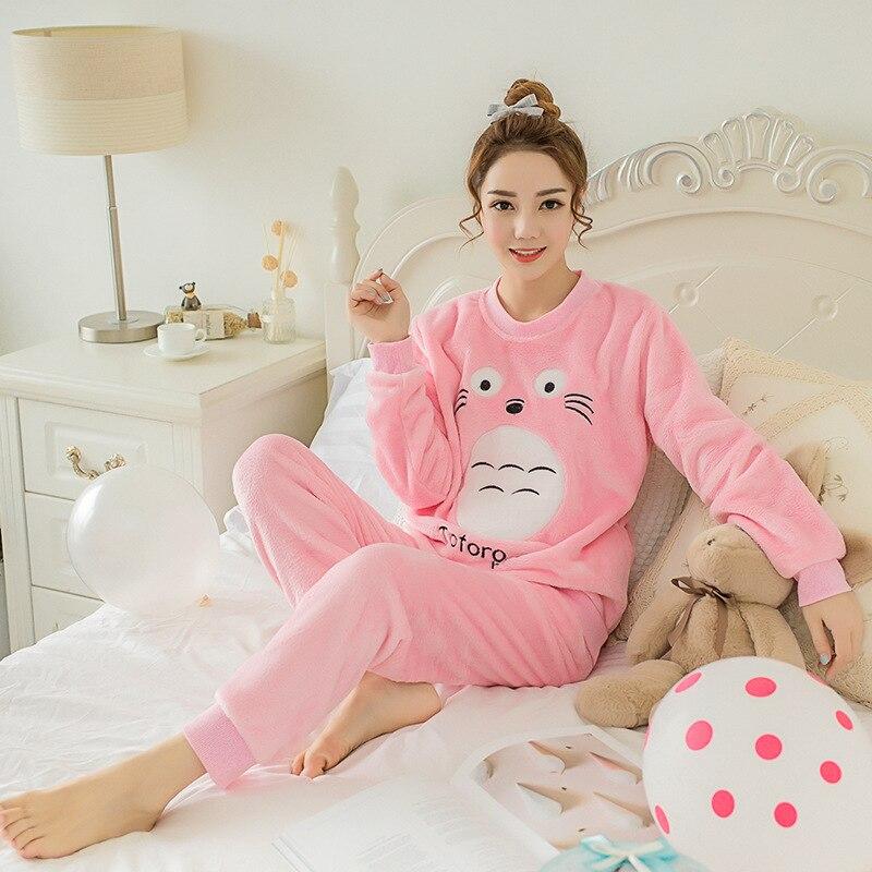 my neighbor Totoro Pajamas nightwear Nightgown Sleepsuit Winter Pajama Sets-in  Pajama Sets from Underwear   Sleepwears on Aliexpress.com  f3a052e99