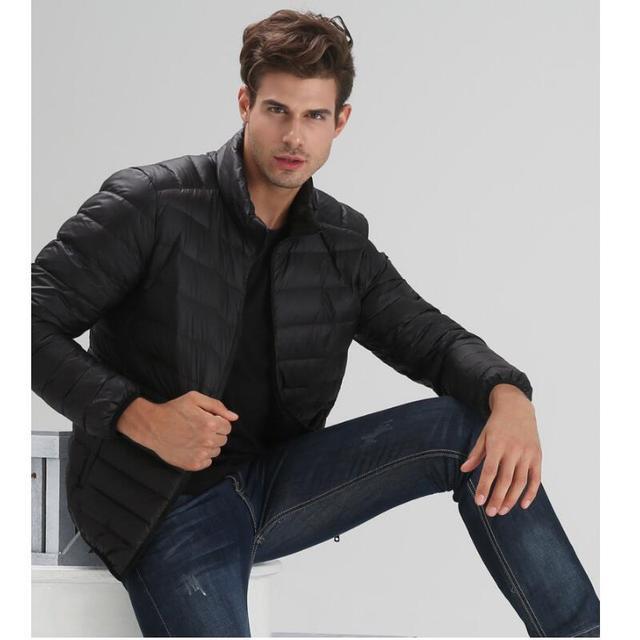 2017 inverno nova Slim fina seção fina jaqueta masculina stand-up dos homens de colarinho casaco de inverno dos homens Dos Homens tamanho S-3XL