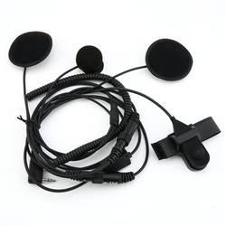 Полный уход за кожей лица PTT Шлемы-гарнитуры микрофон для Kenwood двухстороннее радио TK3173/TK3200 BAOFENG UV-5R
