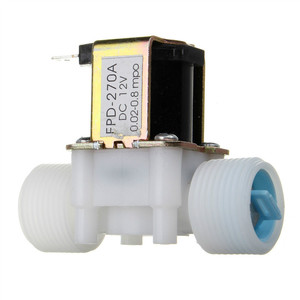 New Arrival Plastic Electric 12V Water Solenoid Valve DC 3/4