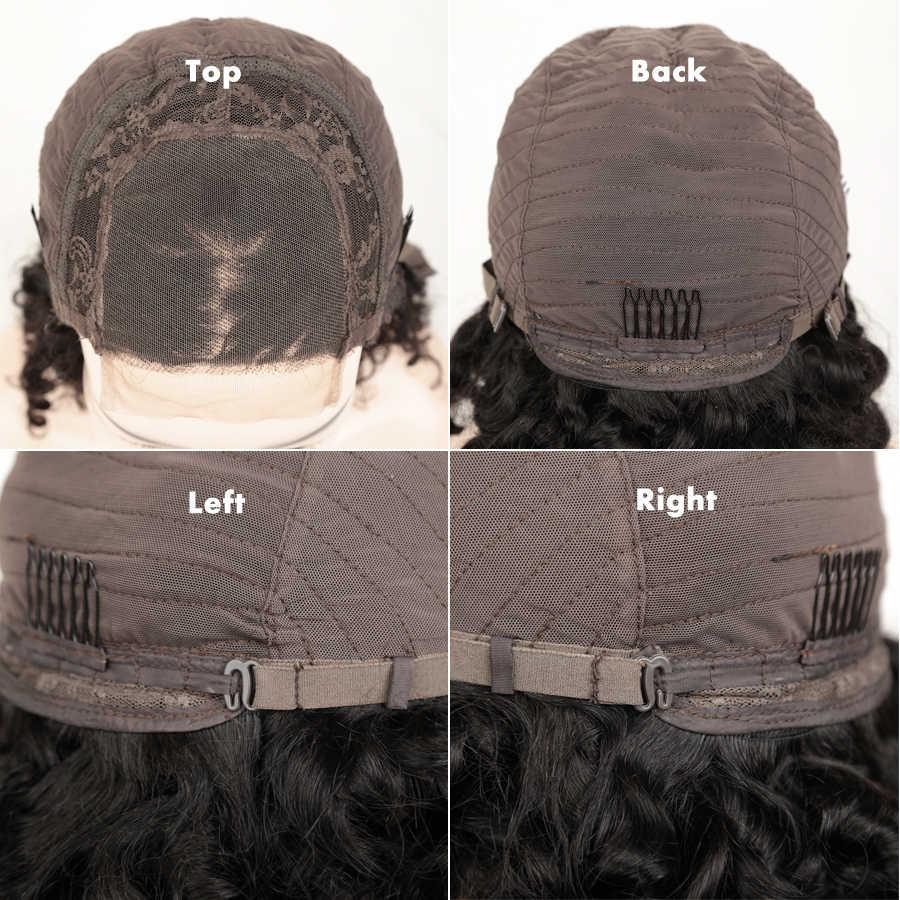 Alibaby кудрявые человеческие волосы парики волна воды 4x4 синтетическое закрытие парик влажные и волнистые человеческие волосы парики перуанские Кружева Закрытие парик Remy