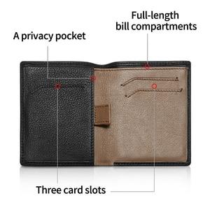 Image 3 - NewBring Minimalist กระเป๋าสตางค์หนังผู้ชายกระเป๋าถือชาย