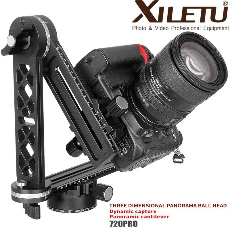 XILETU 720PRO-2 cabeça do tripé panorâmica de 360 graus gama Completa junta universal suporte da câmara