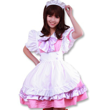 Sexy Costumes Women's Dress Cosplay Uniform Temptation Apron Dress Meidofuku French Maid Sexy Uniform Lolita Dress цена