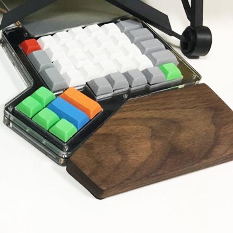 ergodox wrist black walnut beech Solid wood hand Wooden Wrist Rest for ergodox mechanical keyboard