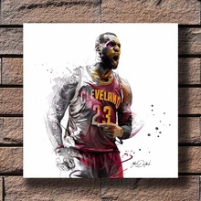 cd7f7ddfcff G-470 Cleveland Cavaliers LeBron James NBA Estrela Tecido de Decoração Para  Casa Cartaz Da
