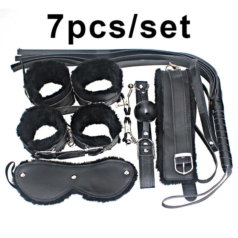 Hot Sale Sex Toy For Couples Cheap 7pcs/set Sexy Pu Leather Flirt Toys Special Fetish Erotic Adult Games Items Sex Products Beneficial To Essential Medulla Sm Products