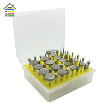 50pc Diamond Coated Head Point Burr Grinding Bit Set For DREMEL Accessories Rotary Tools 1/8 inch 120 Grit