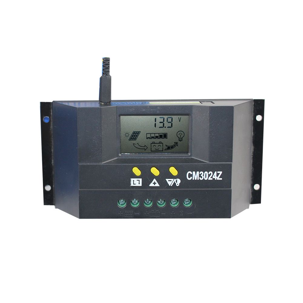 CM3024 Solar Panel <font><b>Battery</b></font> Regulator Charge Dual USB Controller <font><b>30A</b></font> <font><b>12V</b></font>/24V for Environment Monitoring Agriculture System