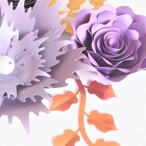 Image 4 - Ręcznie robiony karton różany papier do majsterkowania kwiaty liście zestaw do dekoracji ślubnych i eventowych dekoracje przedszkole dekoracja ścienna samouczki wideo