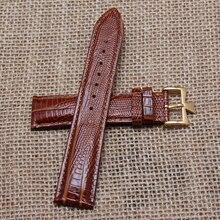 20 mm hebilla 18 mm de acero inoxidable metal oro broche nuevo negro correa de piel genuina correa correa de reloj pulsera de grano del lagarto caliente